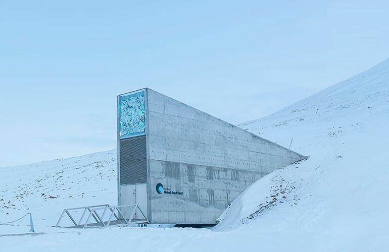 Bóveda de Svalbard, conocida como Svalbard Global Seed Vault, permite albergar hasta 2.500 millones de semillas y conservarlas a -18ºC.