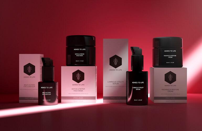 La linea de alta cosmética ecológica CELLULAR RADIANCE COLLECTION está elaborada con células madre de Granada, un super activo cosmético para iluminar la piel.